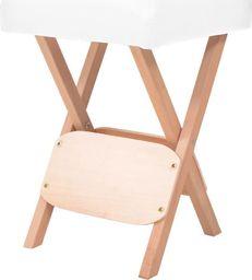 vidaXL Składany stołek do masażu, grubość siedziska 12 cm, biały