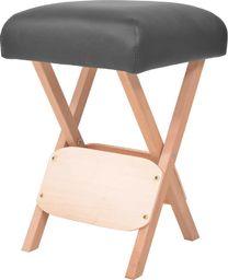vidaXL Składany stołek do masażu, grubość siedziska 12 cm, czarny