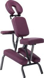 vidaXL Fotel do masażu, sztuczna skóra, burgundowy, 122x81x48 cm