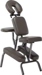 vidaXL Fotel do masażu, sztuczna skóra, antracytowy, 122x81x48 cm