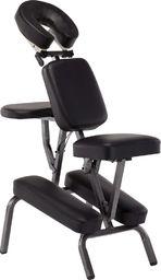 vidaXL Fotel do masażu, sztuczna skóra, czarny, 122x81x48 cm
