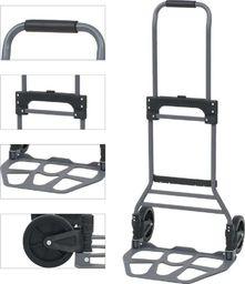 vidaXL Składany wózek ręczny, aluminiowy, 130 kg