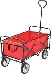 vidaXL Składany wózek ręczny, stalowy, czerwony