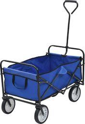 vidaXL Składany wózek ręczny, stalowy, niebieski
