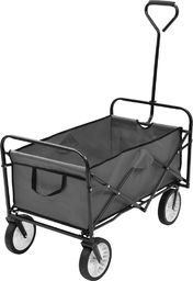 vidaXL Składany wózek ręczny, stalowy, szary
