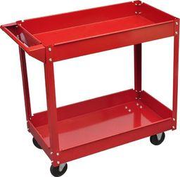 Wózek narzędziowy vidaXL Wózek warsztatowy czerwony (100 kg)