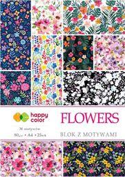 Blok biurowy GDD Blok z motywami Flowers A4/15K 80g HAPPY COLOR