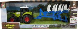 Askato Traktor z przyczepą dzwiękiem i światłem