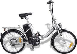 vidaXL Rower elektryczny srebrny