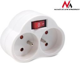 Maclean Gniazdo prądowe x2 MCE31 z wyłącznikiem