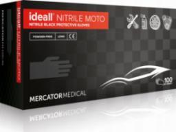 Mercator Medical rękawice ochronne ideall nitrile moto roz. M 100szt. RD30187003