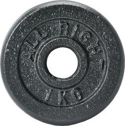 Allright Obciążenie żeliwne Czarne 28 mm 1 kg