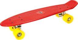 Deskorolka Allright Deskorolka fiszka Allright Speed Board czerwona żółte kółka uniwersalny