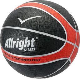 Allright Piłka koszykowa Allright Street czarno-czerwona rozmiar 7 uniwersalny