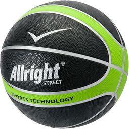 Allright Piłka koszykowa Allright Street czarno-zielona rozmiar 7 uniwersalny