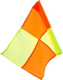 Meteor Chorągiewki flagi sędziowskie zestaw 2 szt 50 cm pomarańczowo-żółta uniwersalny