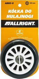 Allright Kółka do hulajnogi 100 mm - 2 sztuki czarno-biały