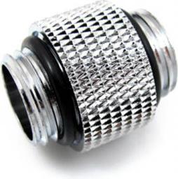 XSPC Adapter 10mm 2x 1/4 cala gwint, Chromowany (5060175581884)