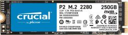 Dysk SSD Crucial P2 250 GB M.2 2280 PCI-E x4 Gen3 NVMe (CT250P2SSD8)