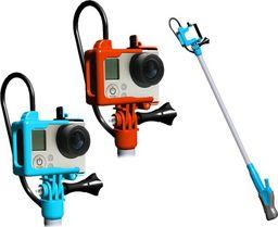 Monopod LOOQ MONOPOD RAMIĘ + PILOT + RAMKA do GoPro HERO 4 3+ 3 - POMARAŃCZOWY