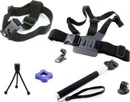 Monopod Xrec Zestaw MONOPOD / HEAD STRAP / CHEST MOUNT do GoPro HERO 5 4 3+ 3 + 2 1 / SJCAM / Xiaomi / Xiaoyi