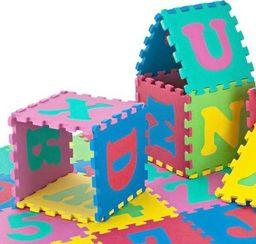 KidsToys ZA301 PUZZLE PIANKOWE DUŻE LITERKI CYFRY 36 SZTUK. uniwersalny