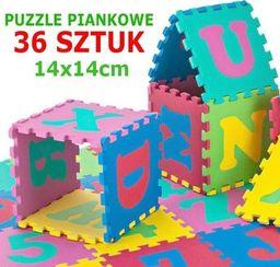 KidsToys ZA301A PUZZLE PIANKOWE MATA EDUKACYJNA 14X14 72 EL uniwersalny