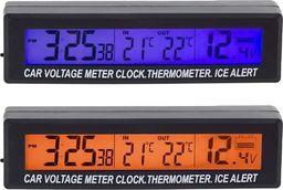 CGAuto Termometr samochodowy, zegarek, woltomierz 3w1 AG97A