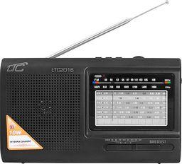 Radio LTC  PS Radio przenośne LTC-2016 WILGA USB z wbudowanym akumulatorem, CZARNE.