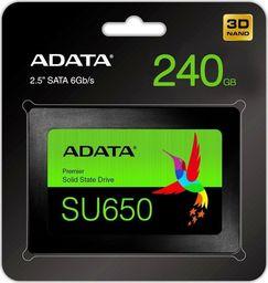 Dysk SSD ADATA Ultimate SU650 240 GB 2.5'' SATA III