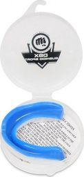 DBX BUSHIDO Żelowe Ochraniacze Szczęki - Ochraniacze na Zęby + Pudełko - Biało-Niebieskie