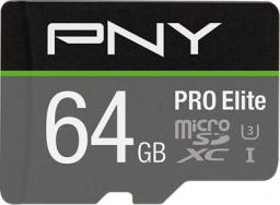 Karta PNY Technologies MicroSDXC PRO Elite 64GB UHS-I (P-SDU64GV31100PRO-GE)
