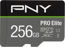 Karta PNY Technologies MicroSDXC PRO Elite 256GB UHS-I (P-SDU256V31100PRO-GE)
