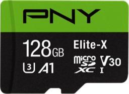 Karta PNY Technologies Elite-X MicroSDXC 128 GB Class 10 UHS-I/U3 A1 V30 (P-SDU128U3WX-GE)