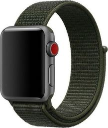 Alogy Pasek nylonowy Alogy do Apple Watch 1/2/3/4/5 42/44mm Ciemny zielony uniwersalny