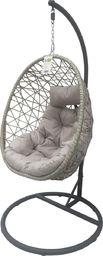 Saska Garden huśtawka, fotel bujany, wiszący kokon Luxe, szary