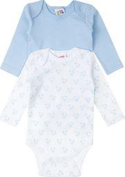 TXM TXM Body niemowlęce z długim rękawem, 2 PAK 68 NIEBIESKI