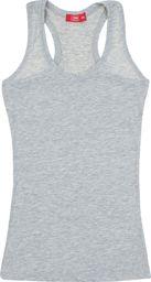 TXM TXM Bluzka dziewczęca na ramiączkach 146 SZARY MELANŻOWY