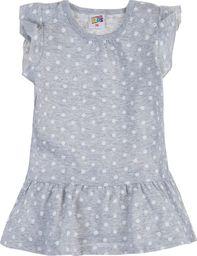 TXM TXM sukienka niemowlęca z falbanką 80 SZARY MELANŻOWY