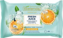 Bielenda Bielenda Fresh Juice Chusteczki micelarne z wodą cytrusową Pomarańcza 1op.-20szt