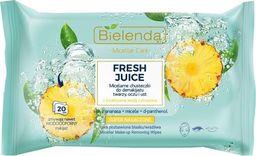 Bielenda Bielenda Fresh Juice Chusteczki micelarne z wodą cytrusową Ananas 1op.-20szt