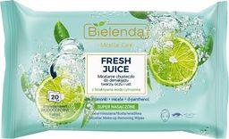 Bielenda Bielenda Fresh Juice Chusteczki micelarne z wodą cytrusową Limonka 1op.-20szt