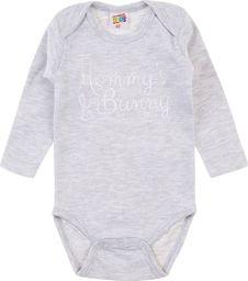 TXM TXM Body niemowlęce z długim rękawem 86 JASNY SZARY MELANŻOWY