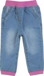 TXM TXM Spodnie niemowlęce dziewczęce jeansowe 74 JASNY NIEBIESKI