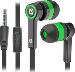 Słuchawki Defender Słuchawki z mikrofonem Defender PULSE 420 douszne 4-pin czarno-zielone