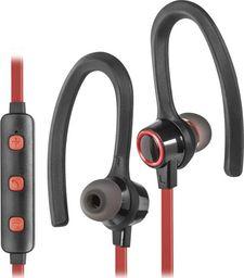 Słuchawki Defender Słuchawki z mikrofonem Defender OUTFIT B720 SPORT Bluetooth douszne czarno-czerwone