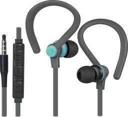 Słuchawki Defender Słuchawki z mikrofonem Defender OUTFIT W760 SPORT douszne szaro-niebieskie