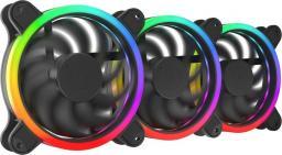 SilentiumPC Corona HP EVO ARGB 120 mm 3-pack + Kontroler (SPC226)