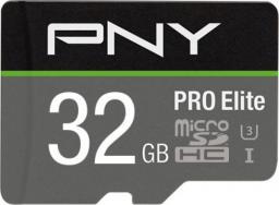 Karta PNY Technologies MicroSDHC PRO Elite 32GB UHS-I (P-SDU32GV31100PRO-GE)