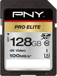 Karta PNY Technologies SDXC PRO Elite 128GB UHS-I (P-SD128U3100PRO-GE)